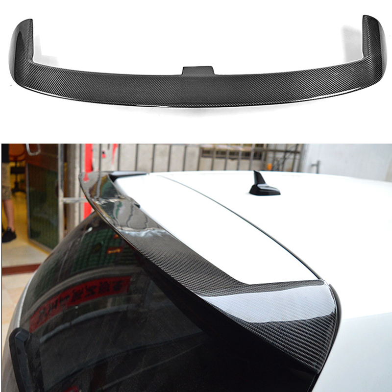 цена на Carbon fiber rear roof spoiler lip wings for Volkswagen VW Golf 6 MK6 VI Sandard 2010-2013 V Style
