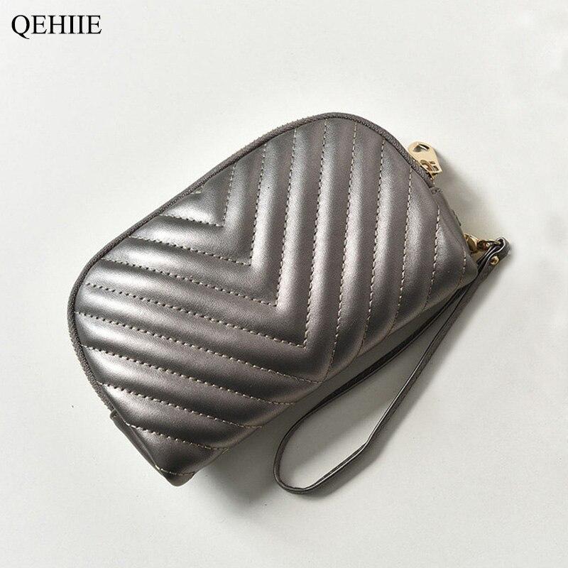 2018 Koreanische Mode Kupplung Tasche Reise Frau Make-up Tasche Handy Geld Key Zertifikat Id Karte Kosmetik Organisation Paket Einfach Zu Verwenden