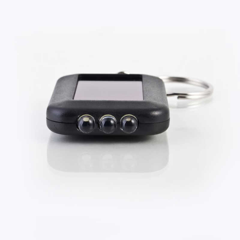 Mini Mini แบบพกพาพลังงานแสงอาทิตย์ 3 ไฟ led พวงกุญแจไฟฉายไฟฉายไฟฉุกเฉินกลางแจ้งเครื่องมือ