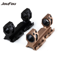 JouFou Hunting Accessories Tactical Scope Rock Solid 25 4mm 30mm Picatinny Weaver Ring Mount With QD
