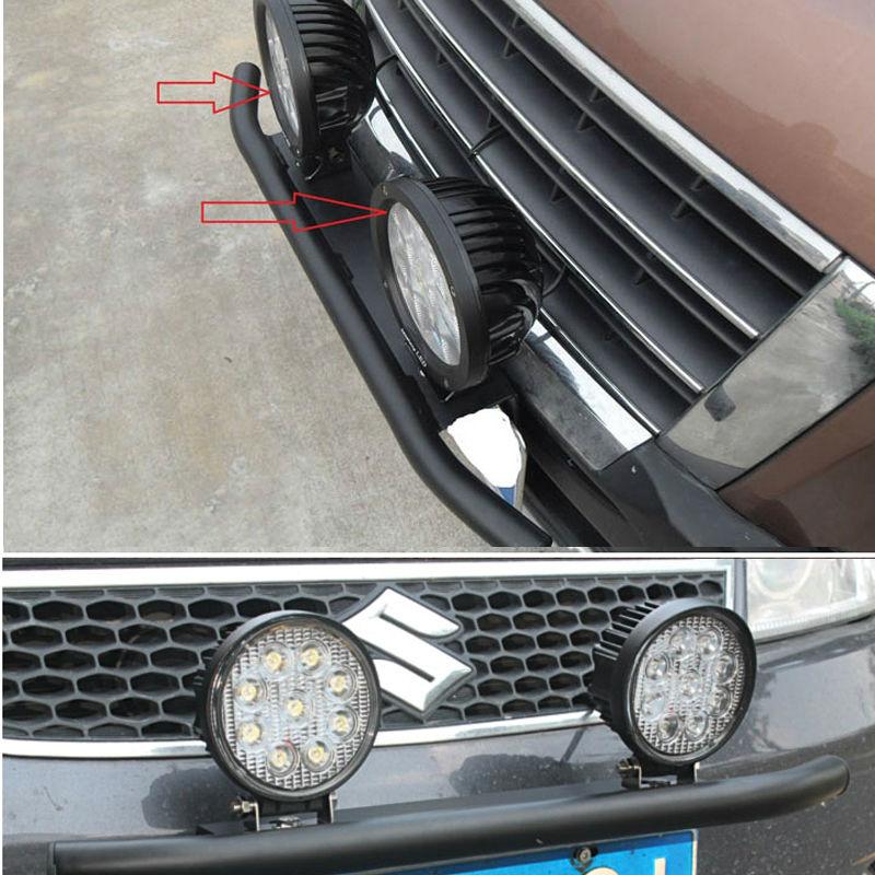 Universal License Number Plate Mounting Bracket Holder w//Front Bull Bar Bumper Bullbar LED Light Mounting Bracket for LED Driving Light Bar and Work Lamp