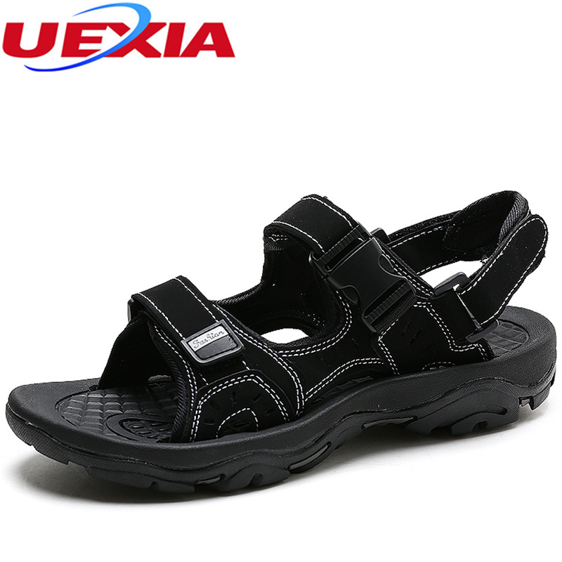 Summer Sandals Mens Leather Flats Beach Men Shoes Sewing Handmade Water Designer Luxury Walking Breathable Cowhide High Quality