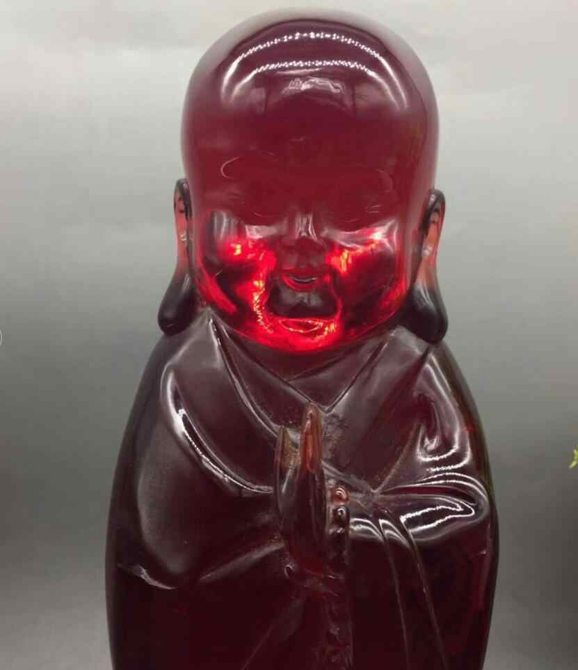 Китай Joss искусственный пчелиный воск крови бассейн флуоресцентный станции монах статуя 10*23 см