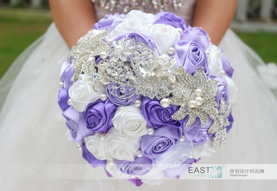 Bouquet Sposa Fai Da Te.Us 40 6 Fai Da Te Spilla Bouquet Sposa Di Seta Wedding Bouquet Da Sposa Damigella D Onore Mazzi Di Lavanda Colore White Rose Nastro