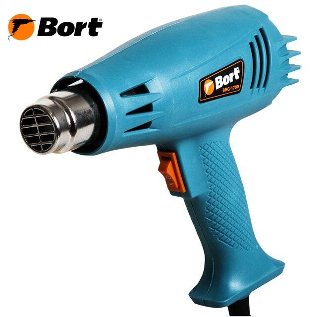 Фен технический Bort BHG-1700 (Мощность 1600 Вт, 2 режима 300/500 °C, защита от перегрева)