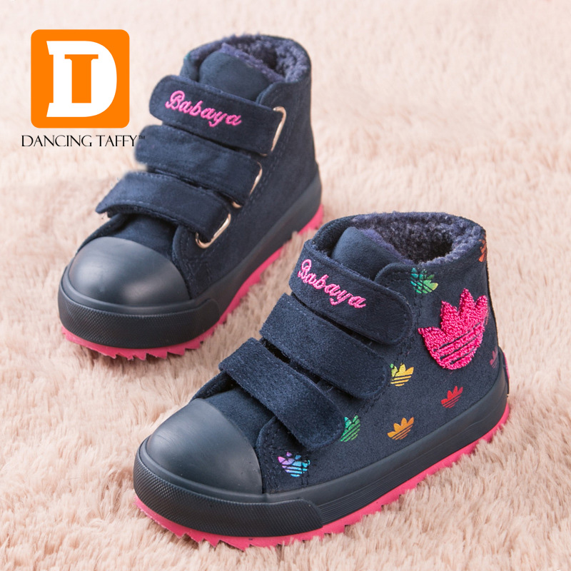 New 2015 Autumn / Winter Children Boots Soild Plush Rubber Boots Baby Warm Shoes For Girls & Boys Sneakers Kids Boots Krosovki comfortable plush shoes boots for 0 18 months cute autumn winter kids baby boys girls cotton warm shoes