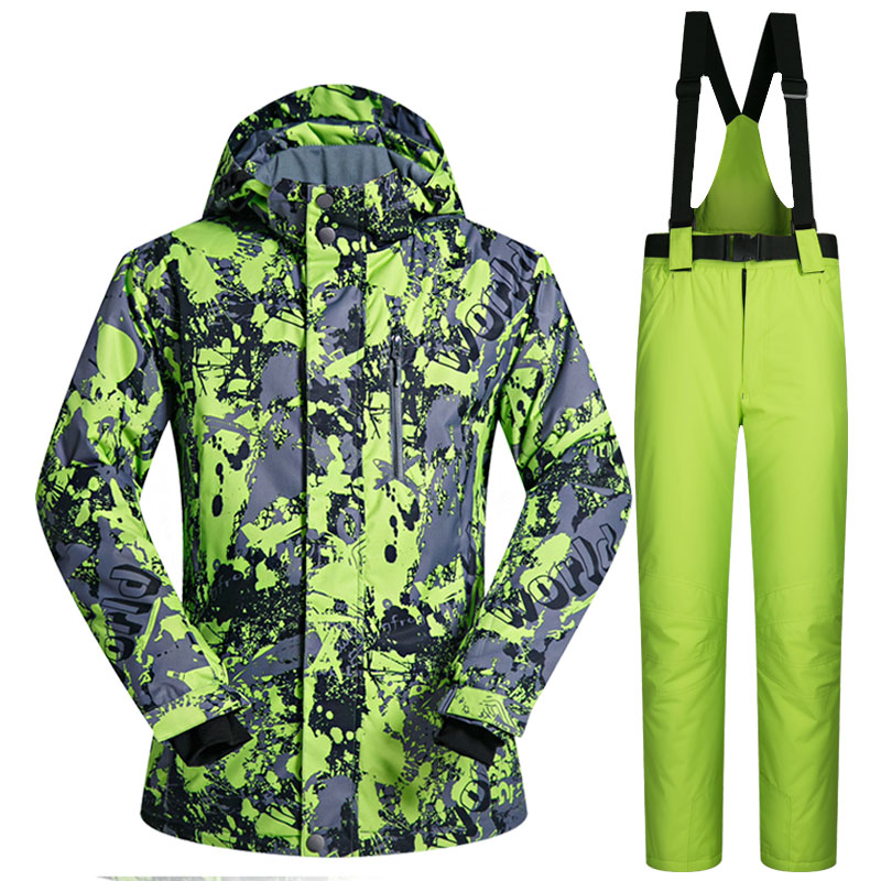 Men Ski Suit Winter Brands 2018 High Quality Windproof Waterproof Warmth DT Snow Jackets And Pants Skiing And Snowboarding Suits 2018 new lover men and women windproof waterproof thermal male snow pants sets skiing and snowboarding ski suit men jackets