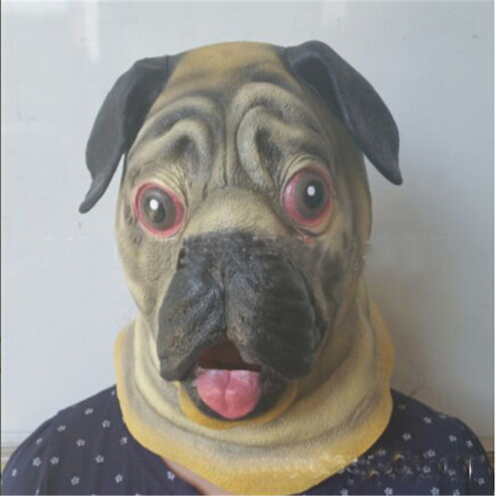 Free shipping Halloween Christmas Party Cosplay Lovely Shar Pei Dog Latex Mask Adult Costume Prop Pug Mask Cute Dog Mask Gifts & Free shipping Halloween Christmas Party Cosplay Lovely Shar Pei Dog ...