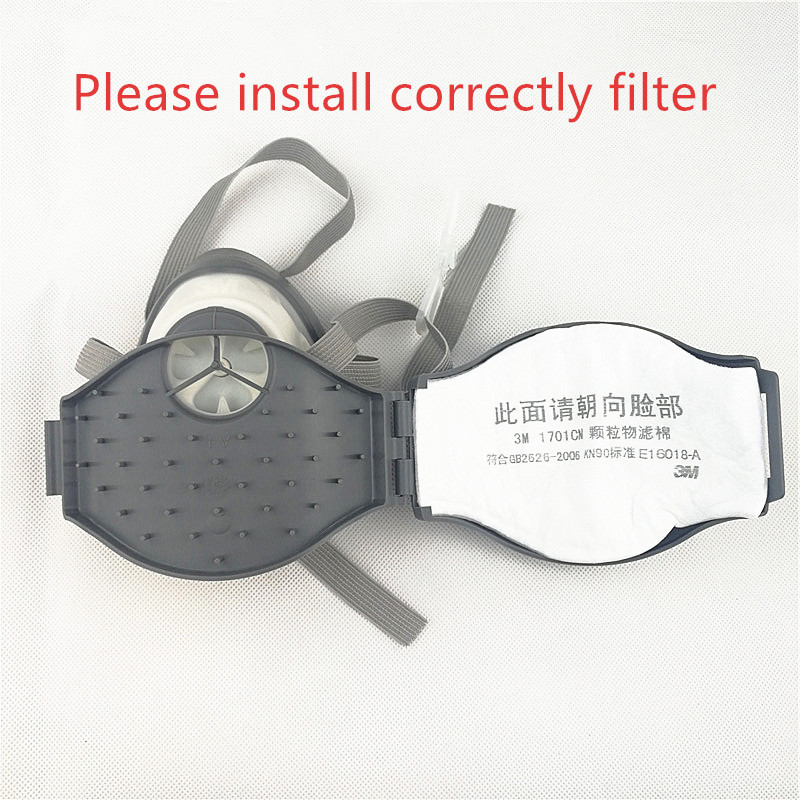 Image 4 - 10pcs/lot 3M 1701CN KN90 Filter cotton Cooperate with 3M 1211 mask together use