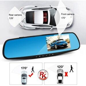 Image 2 - Cámara de salpicadero 1080P 4,3 pulgadas espejo de cámara de coche 170 HD cámara grabadora de conducción visión nocturna Auto DVR Camem grabadora de cámara de vehículo