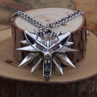 10pcs Antique Silver New 99 Similar Wolf Head Pendants Necklaces The Witcher 3 Wild Hunt Pendant