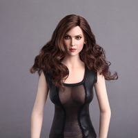 1/6 Scale European Girl Head Sculpt With Long/Short Curly Hair GC004 for 12 inches Action Figures