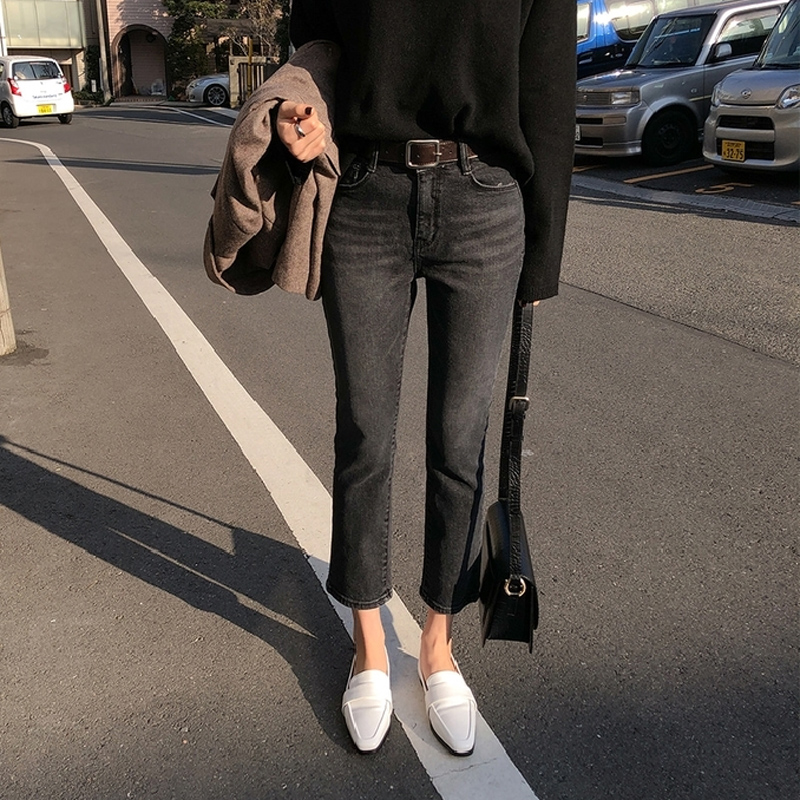 Spring Summer Light Washed Straight Elastic   Jeans   Women Jeggings Cool Denim Pants Capris Casual Female   Jeans   2019 high quality