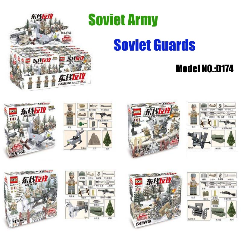 WW2 The Battle Moscow Custom Guard Husky Military Figures Soviet Russian National Army Model Blocks Brick Toy Compatible DOLL цена и фото