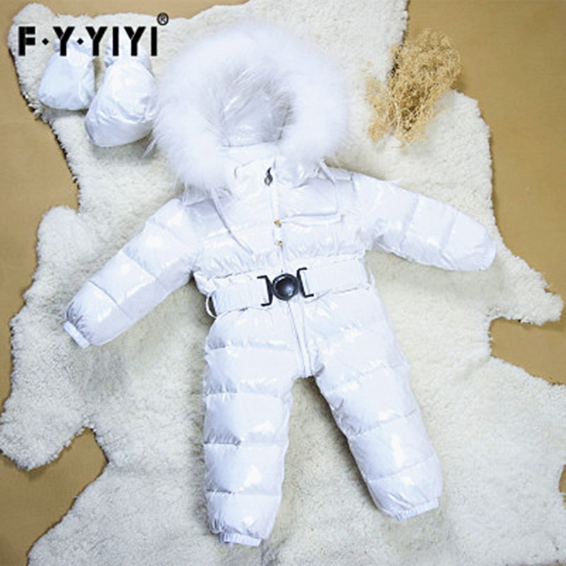 2017 Winter Baby Clothes Newborn Duck Down Rompers Baby Overalls Infant Snow Wear Snowsuit Big Fur Collar 0-3Y boy girl jumpsuit baby rompers newborn baby girl duck down winter snowsuit infant baby overalls hooded jumpsuit warm newborn baby boy clothes