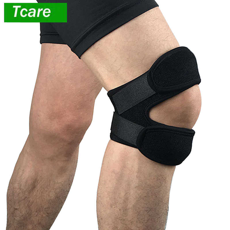 26260dc163 1Pcs Patella Knee Brace Support Strap for Running Basketball Sports Squats  Meniscus Tear Arthritis ACL Knee