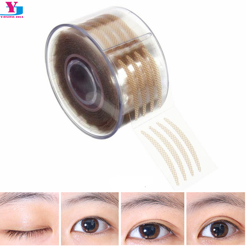 Hot New 300 Pairs Mesh Shape Invisible Double Eyelid Fiber Magic Beautiful Eyes Stickers Eyelid Stickers Make Up Tools Wholesale