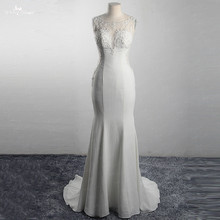 yiaibridal LZ317 Sexy Illusion Sleeveless Wedding Dress