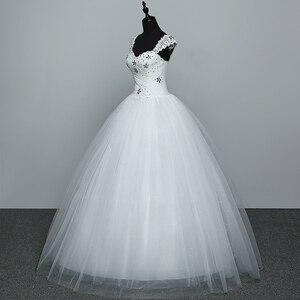 Image 4 - Real Photo Wedding Dress 2020 Hot Koop Applicue Eenvoudige Lace Goedkope Wedding Gown Met Kralen Vestido De Noiva Geïmporteerd china
