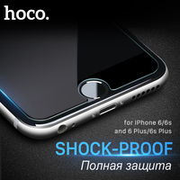 ORIGINAL HOCO Ghost Series Transparent Glass Filmset For Apple IPhone 6 2 5D Smooth 9H Ultra