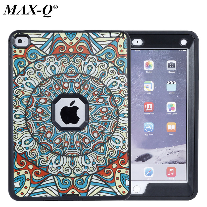 NEW Armor Shockproof Case For Apple iPad 6 AIR2 Silicon+PC Heavy Duty Hard Case Cover Full Body Protective For ipad air 2 Case
