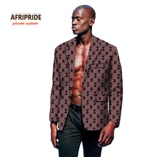 Afripride Trend spring fashion coatmens  african clothes latest designs print cotton wax plus size A731402