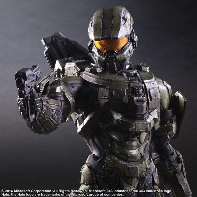 Halo Action Figure Play Arts Kai Master Chief PVC Toys 260mm Anime Games Collectible Model Toy Halo John Playarts Kai 5