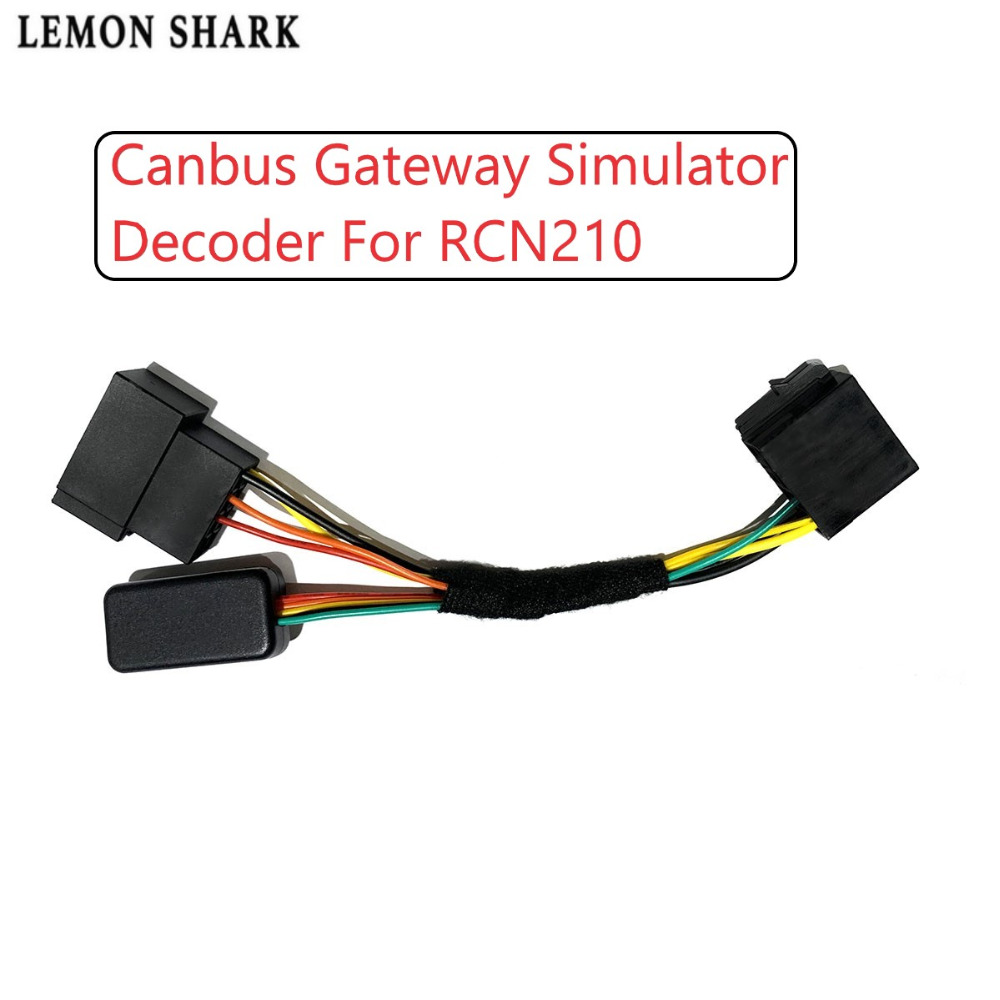US $12 45 11% OFF|Upgrade RCN210 Conversion Cable Canbus Adapter Gateway  Simulator Decoder Emulator For VW Jetta Passat B5 Golf MK4 Polo 9N-in  Cables,