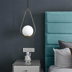 Современный Nordic стекло молочно-белого цвета шар подвесной светильник для бар для столовой комнаты и прихожей прикроватные подвесной