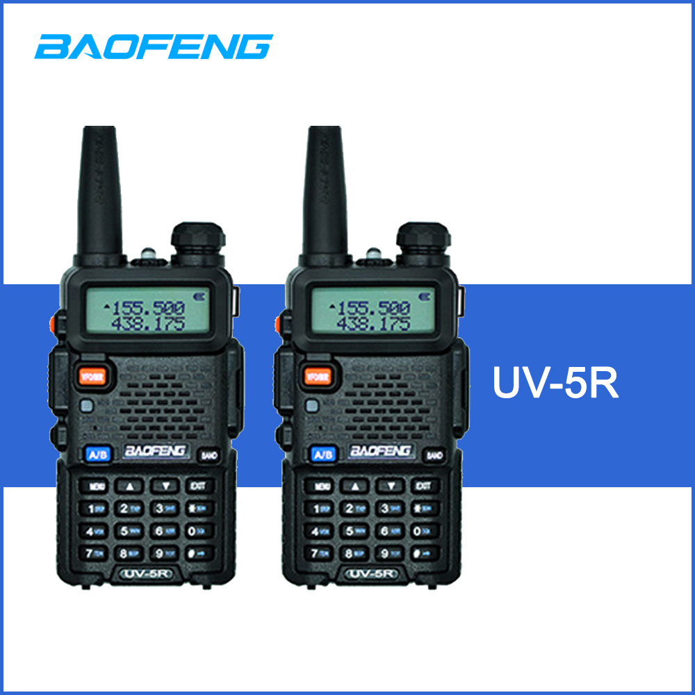 2pcs BAOFENG UV 5R Interphone Walkie Talkie Two Way Radio FM Transceiver Dual band DTMF VOX