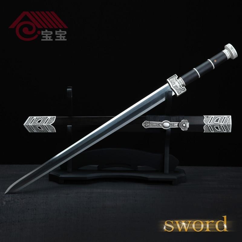 Baja dilipat Tangan ditempa Cina Longquan Pedang Han Pedang tangan - Dekorasi rumah