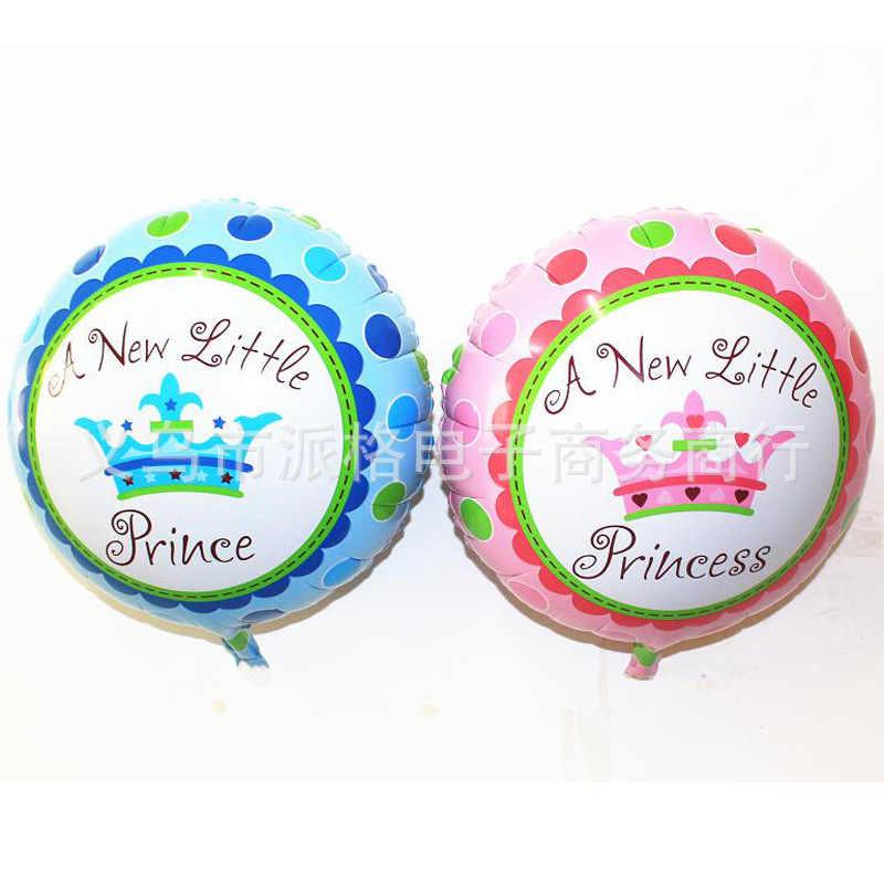 18นิ้วการ์ตูนเจ้าหญิงน้อย/เจ้าชายฟอยล์ลูกโป่งเด็กทารกหญิง100วันปาร์ตี้วันเกิดของตกแต่งบอลลูนฮีเลียมของขวัญของเล่น