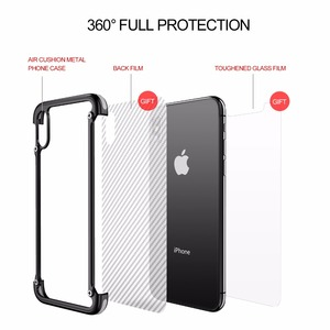 Image 5 - OATSBASF Airbag Metal Case For iPhone X Case Personality Airbag Shell for iPhone X Metal Bumper cover case with Gift Glass Film