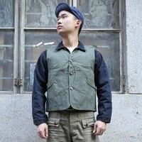 FOUR COLORS Duck Canvas Game Pocket Vest Mens Vintage Labour Denim Waistcoat Function Slim Fit Short