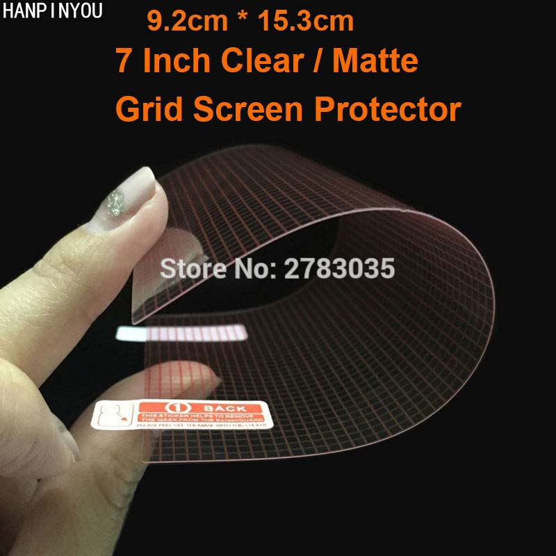 7 Inch 92mm*153mm Universal Clear Glossy / Anti-Glare Matte DIY Grid Screen Protector Protective Film Guard For 7.0
