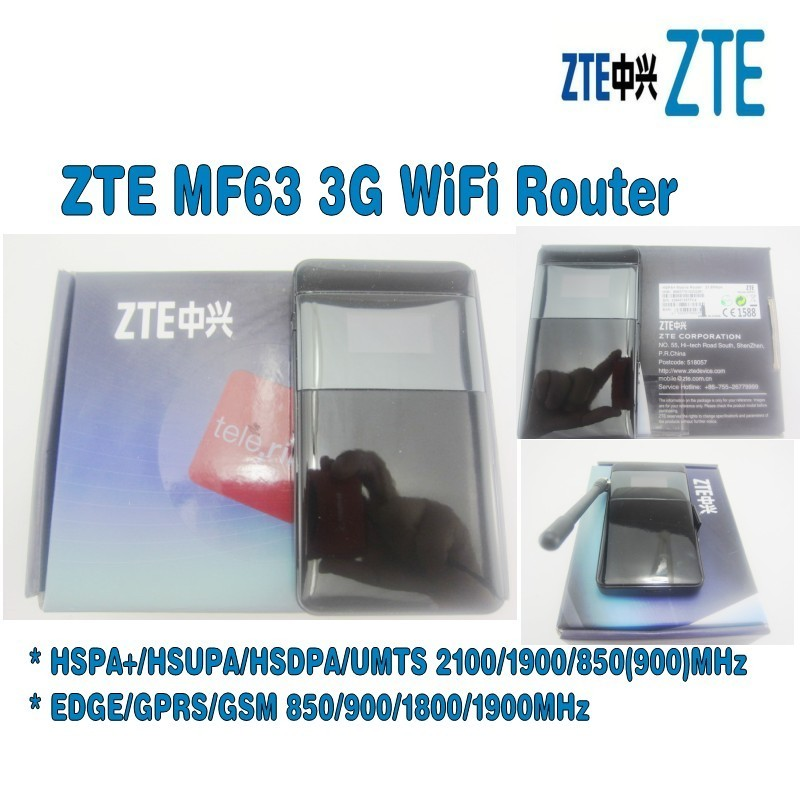 Unlocked ZTE MF63 21mbps wifi router dongle mifi Mobile Hotspot 3g pocket plus with antenna
