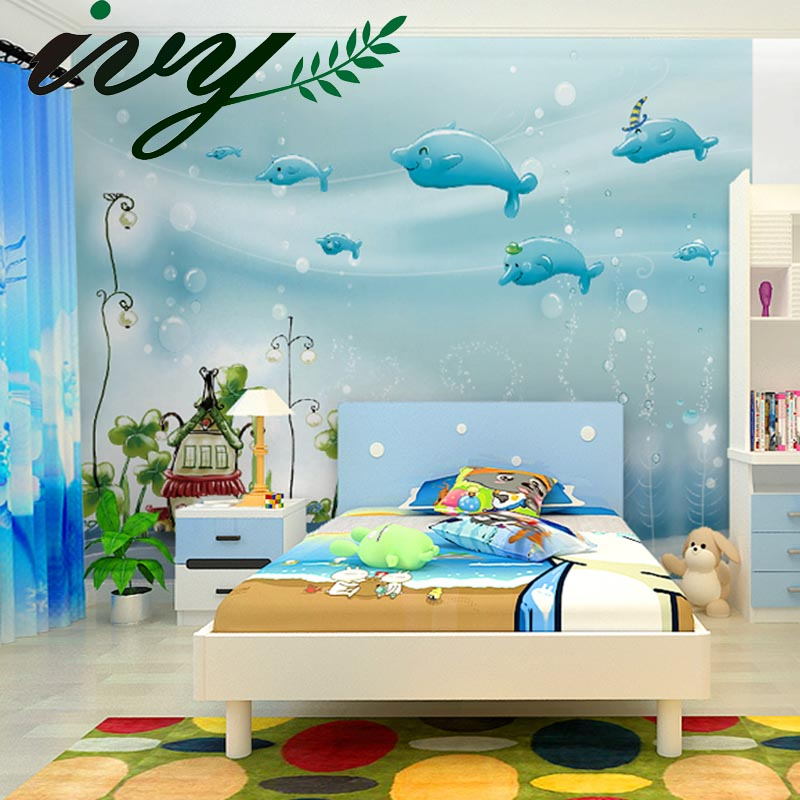 Buy wallpaper baby room mural wall papers for Baby mural wallpaper