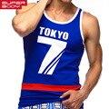 Superbody marca hombres tank top chaleco camisetas singlets aptitud de los hombres del tanque Gasp camiseta sin mangas Ocasional de Hip Hop Para Hombre Del O-cuello Top Tees