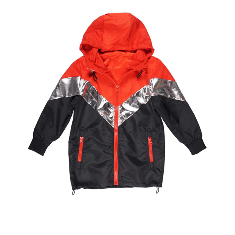 Kids Boys Casual Trench Hit Color Design Jackets Windbreaker Jacket Teenager Waterproofing Outerwear Trench Size for 4-14 Y Kid