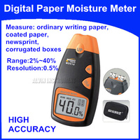 Free Shipping Digital Paper Moisture Meter Tester Measure:ordinary writing paper,coated paper, newsprint, corrugated boxes etc.