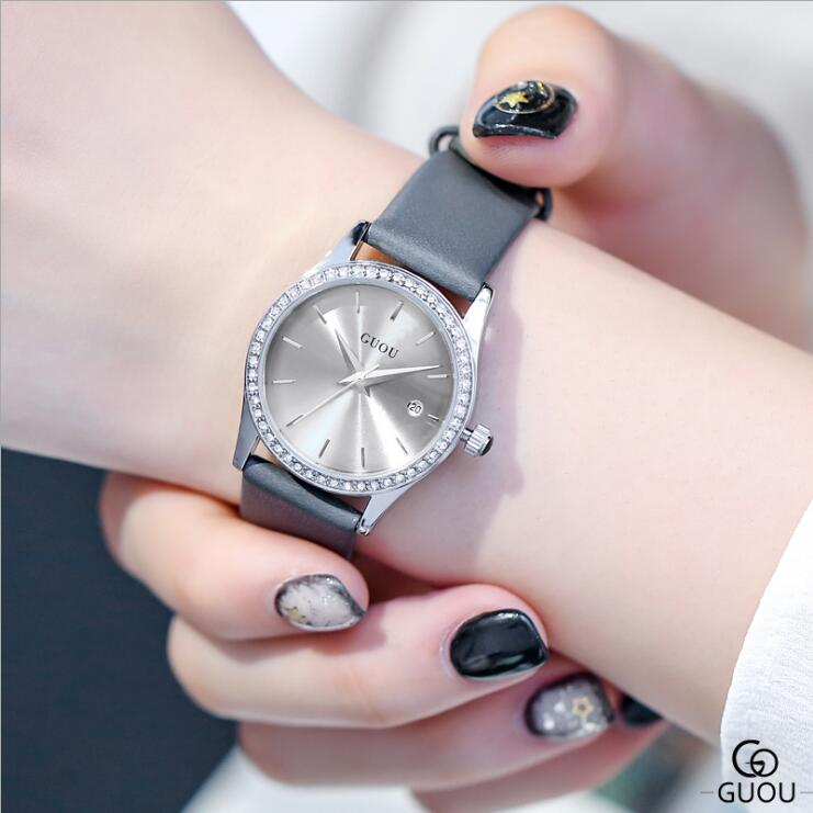 Relogio Feminino Retro Leather Strap Quartz Watches Women Fashion Exquisite Diamond Watch Women Watches Clock Saat Relojes Mujer|Women's Watches| |  - title=