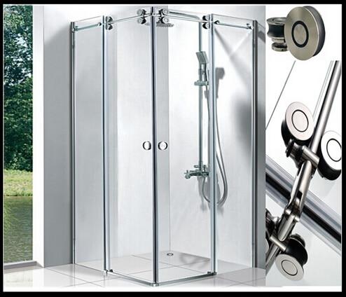 Free Shipping Stainless Steel Ss304 Frameless Glass Sliding Shower