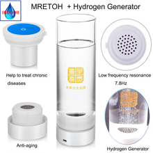 Anti-Aging Hydrogen rich water and Helping treat chronic diseases MRETOH Two in one  USB chargeable glass H2 Generator cup