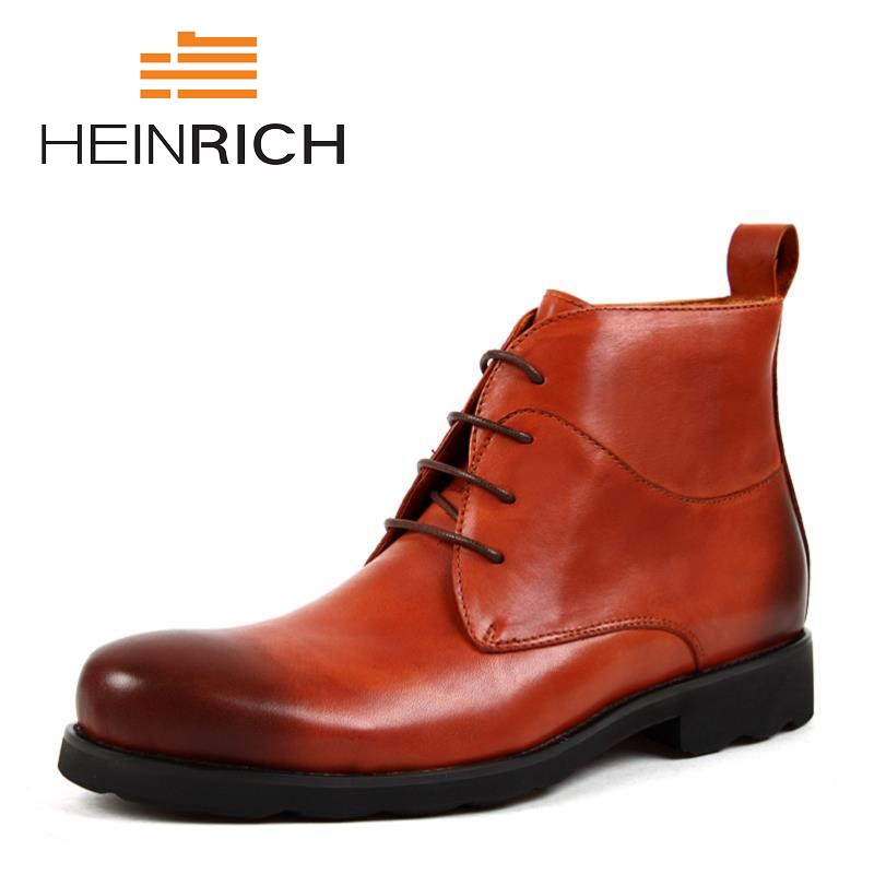 HEINRICH Autumn Fashion Leather Ankle Boots Mens Style Casual Shoes Men Boots High Quality Simple Style Working Men ShoesHEINRICH Autumn Fashion Leather Ankle Boots Mens Style Casual Shoes Men Boots High Quality Simple Style Working Men Shoes