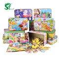 Игрушки для детей Деревянные Головоломки 60 шт. ребенка Железный Ящик Головоломки Малышей, Развивающие Игрушки для детей детские игрушки