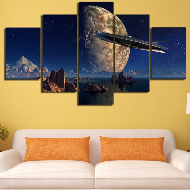 5 Pieces Star Wars HD Oil Printed Painting Canvas Coloring Movie ...