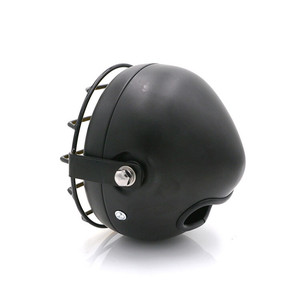 Image 5 - F 1016 Motorcycle accessories headlight net cover GN125 retro black shell round headlights CG125 refit retro headlights