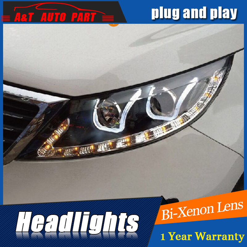 Auto Part Styling For Kia Sportage R headlights 2011-2013 For Kia Sportage R bi xenon lens h7 xenon внешние аксессуары myhung kia sportage 2010 2011 r abs 4