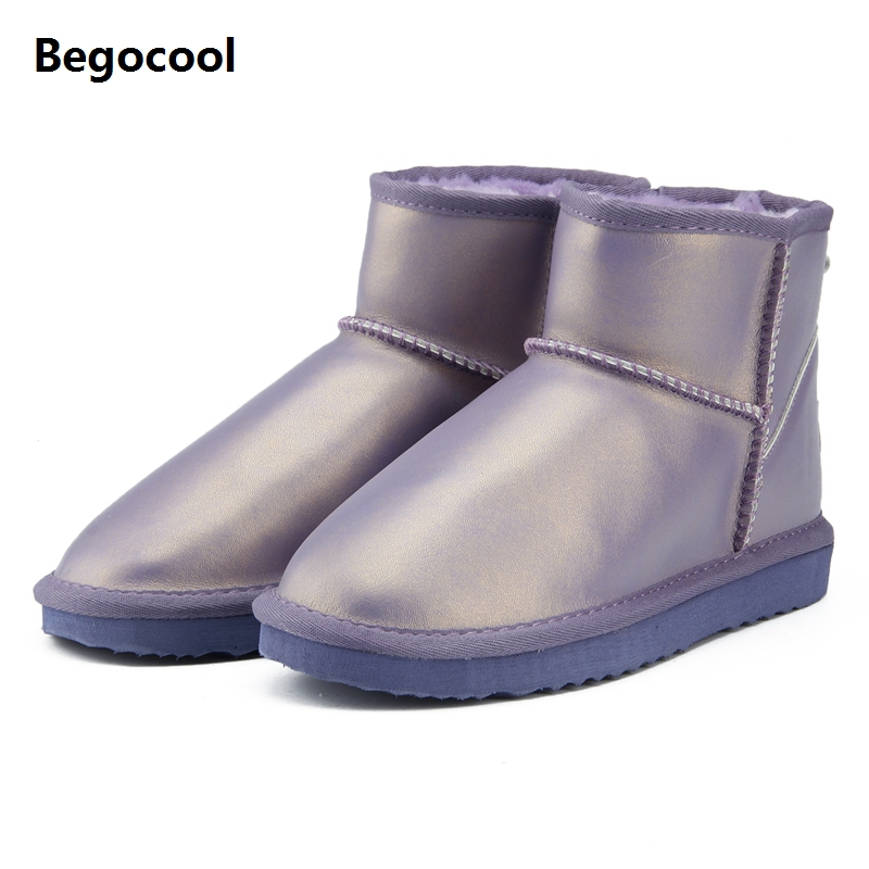 2018 Waterproof Genuine Leather Fur Winter UG Boots Warm 100% Wool Women Boots Classic Snow Boots Women Shoes Lady Ankle Shoes bacia 2017 women winter boots casual super comfortable genuine leather boots female black warm wool fur shoes size 36 41 mb019