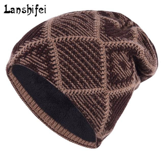 2017 Hot Sales Men Knitting Hat Winter Snow Hat For Man Skullies Beanies  Warm Man Beanie 2b7cab577